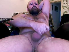 HAIRY UNCUT BEAR JACKS OFF