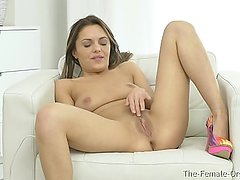 Femorg Babe Maturbation to Shuddering Orgasm with Wand