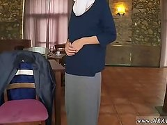 Arab striptease Hungry Woman Gets Food and
