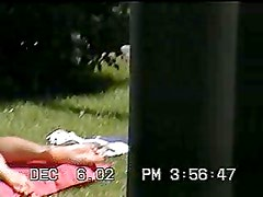 Real Voyeur - girl sunbathing - Hot and Short