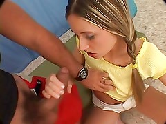 Hard fuck with teeny girl