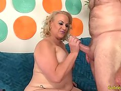 Mature woman Summer takes fat dick inside her