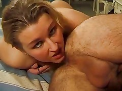 kinky blond sucks,gets fucked with bottle and cock