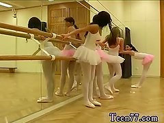 Brunette ass licking Hot ballet damsel orgy