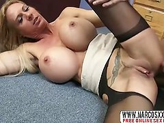 Tense Step-Mom Brooke Tyler In Stockings Likes Best Dick