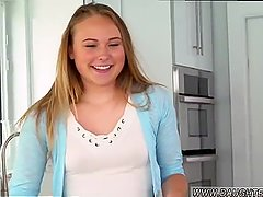 Ebony teen park blonde father She slowly