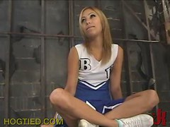 Blonde Cheerleader Gets Blindfolded and Dominated In BDSM Vid