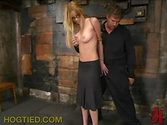 Busty Blonde Getting Tied Up And Dominated In BDSM Vid