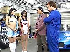 Japanese AV Model adorable racequeen in uniform and boots