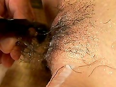 Yuki Igawa's asshole gets fingered and her hairy cunt creamed