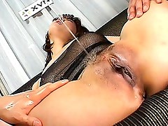 Ryo Hirase is incredibly wet after they play with her pussy