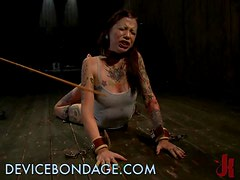 Blindfolded Brunette Is Anxious To Have Her BDSM Time