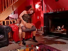 Daughter Watches Red Headed Step Mom Receiving Anal