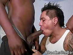 Tattooed mexican guy shared by black guys
