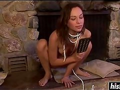 Amber Rayne enjoys a session of drilling