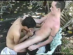 Hung Twinks Garrett and Mikey Fucking Outdoors