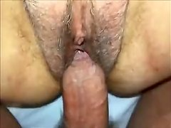 Hairy Pussy fucked and creampied - POV