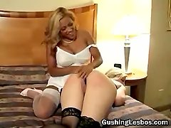 Lesbo slut bounded and fucked with toy part3