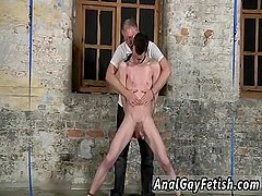 Gay twink daddy bondage With his sensitized