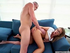 Layla London Sneaking Around With Daddys Friend