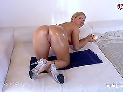 My Dirty Hobby - Oiled up busty anal fuck race