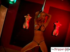 The Stripper Experience - Bombshell Sarah Jessie suck and fuck a big dick