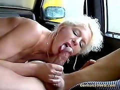germa milf picked up for car sex