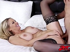 Big booty MILF Julia Ann riding big dick