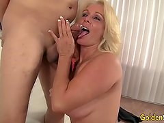 Mature Blonde Is Boned by a Fat Dick