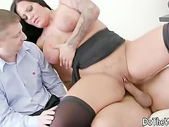 Swinger slut fucked in front of husband