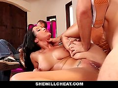 SheWillCheat - Tatted Wife Cheats On Old  Husband With Young Cock