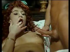 Perfect curly red hair has anal hardcore sex