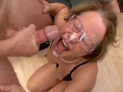 Horny milf in glasses ass fucked and fisted