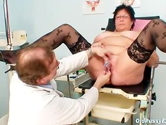 Breast exam with fat mature is sexy