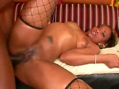 Big black dick inside hot ebony slut