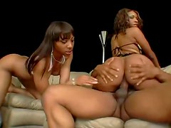 Banging ebony ladies with his big shaft