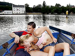 Young couple having hot sex at public places