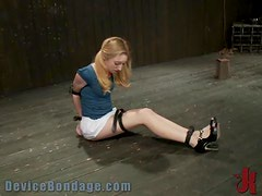 Chains and Ropes Leave This Blonde at This Guy's Mercy