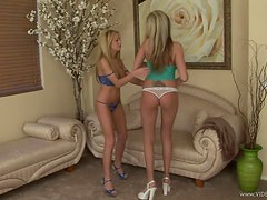 Lesbian Action With The Gorgeous Blondes Aj Bailey And Hillary Scott