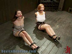 Blonde and Brunette Get Abused With Several Torture Devices