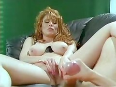 Big natural tits sex with retro beauty
