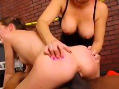 Redhead watches Hailey Young go black