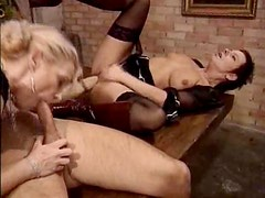 Matures blow the young guy
