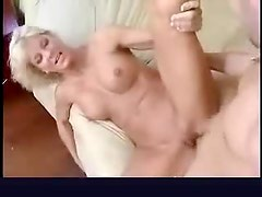 Blonde milf with perfect tits suck and fuck