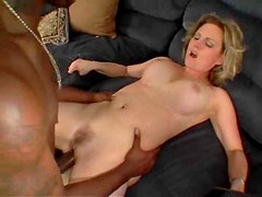 Wide ass milf is horny for big black cock
