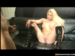 Spanked and fucked by a strapon goddess