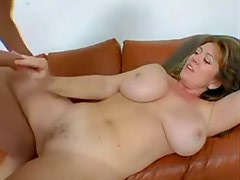 Amazing big milf tits bounce as he takes her ass
