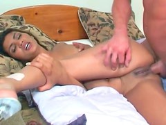Ass smashed Indian girl takes facial