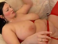 Fucking a big breasted fat girl hardcore