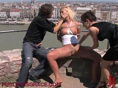 Blonde Loves Being Played And BDSM In Public